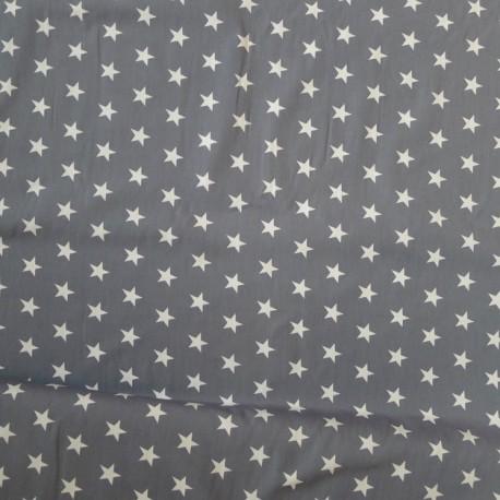 Baumwollstoff Punkte Blau Schwarz