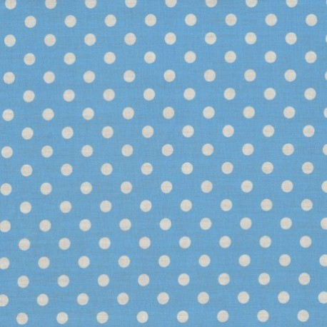 Baumwollstoff Punkte 7 mm